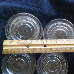 Vintage Coasters - 2 Big + 4 Smaller Clear Glass